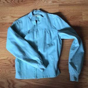 Vintage baby blue Gap bomber jacket